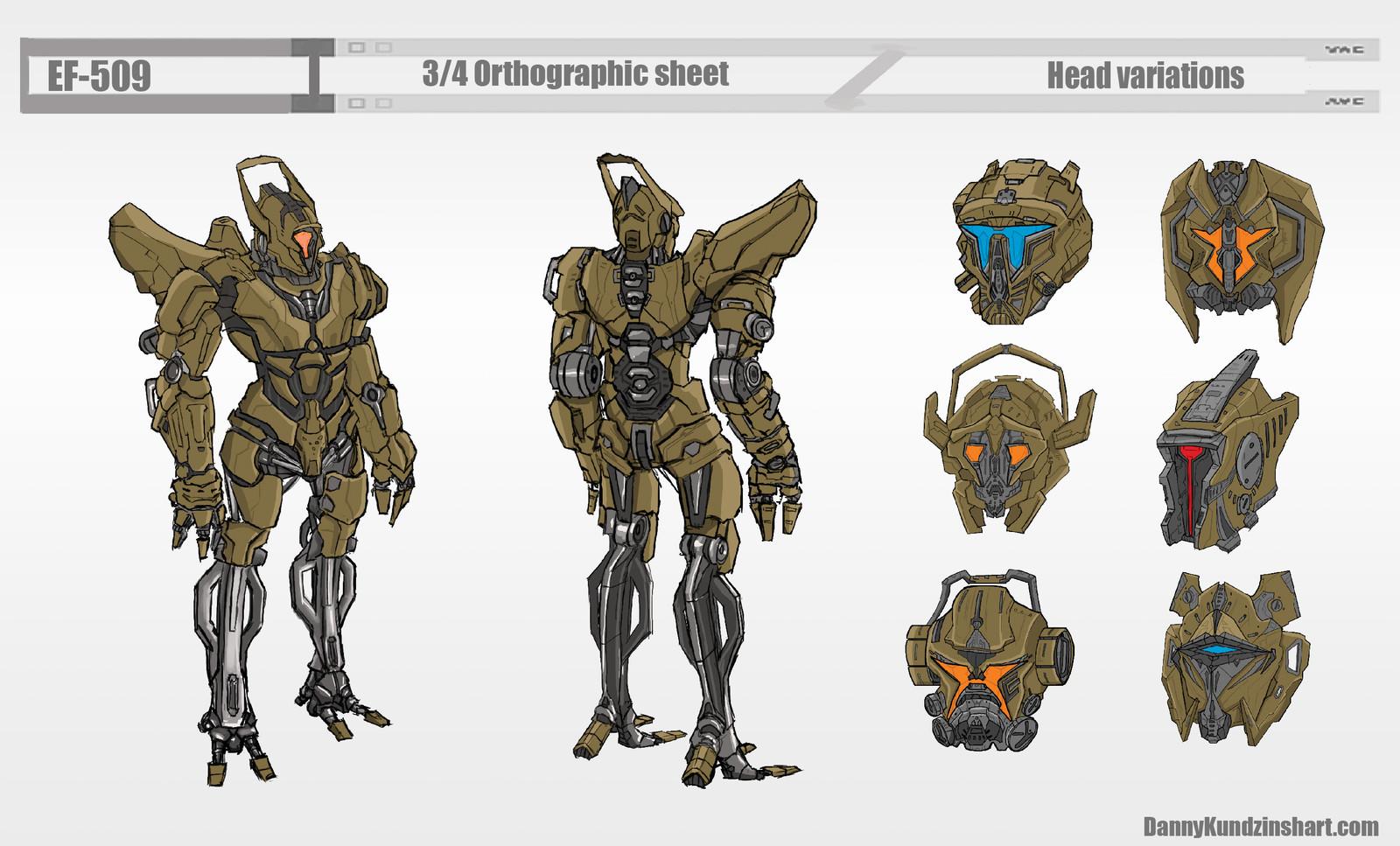Humanoid Robot EF-509 concept design