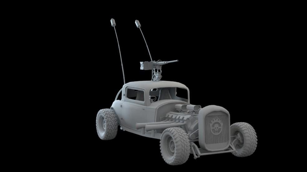 artstation mad max war boys car elvis low poly wip javis jones rh artstation com