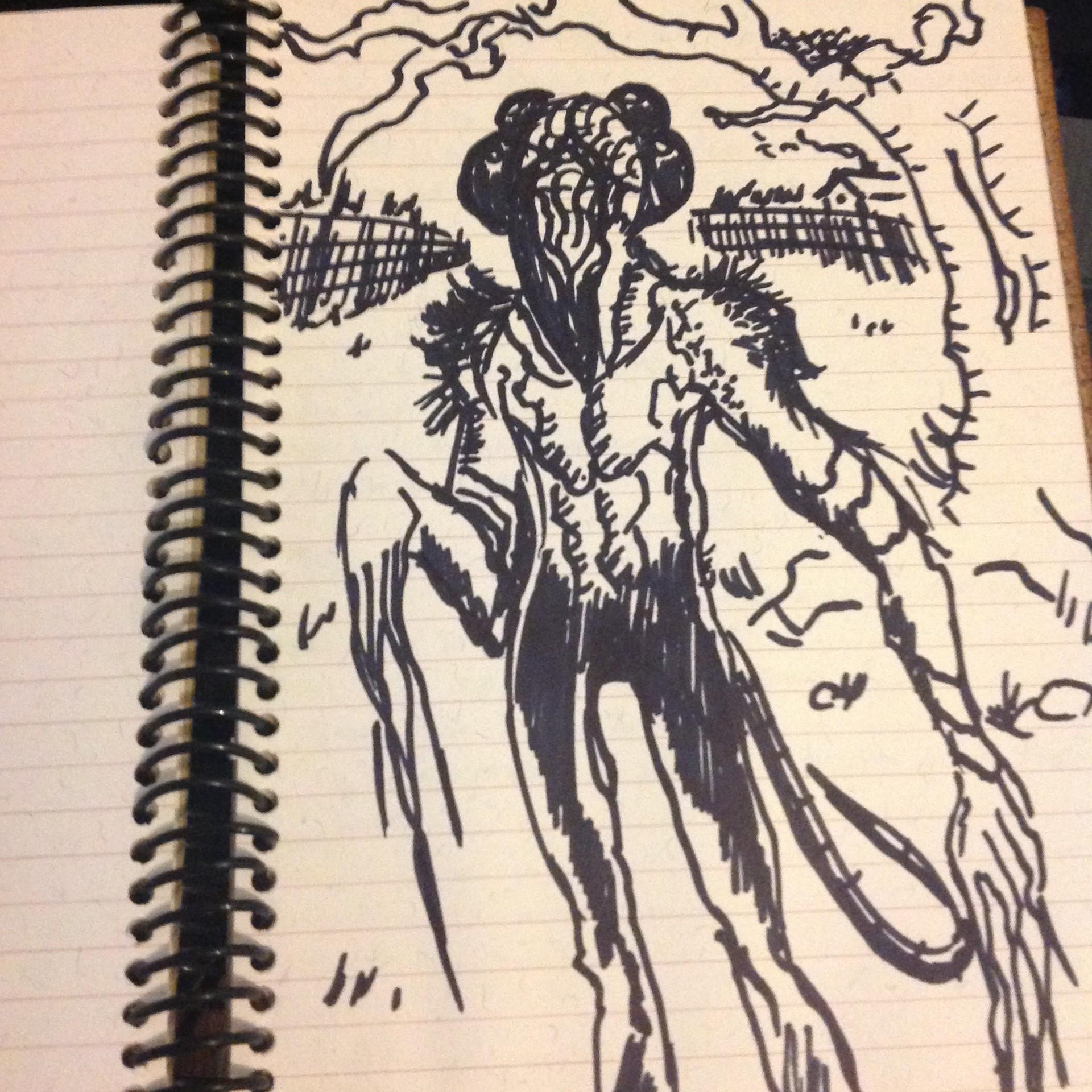 Artstation ancient sketchbook horror themed drawings sebakuryu c s p c