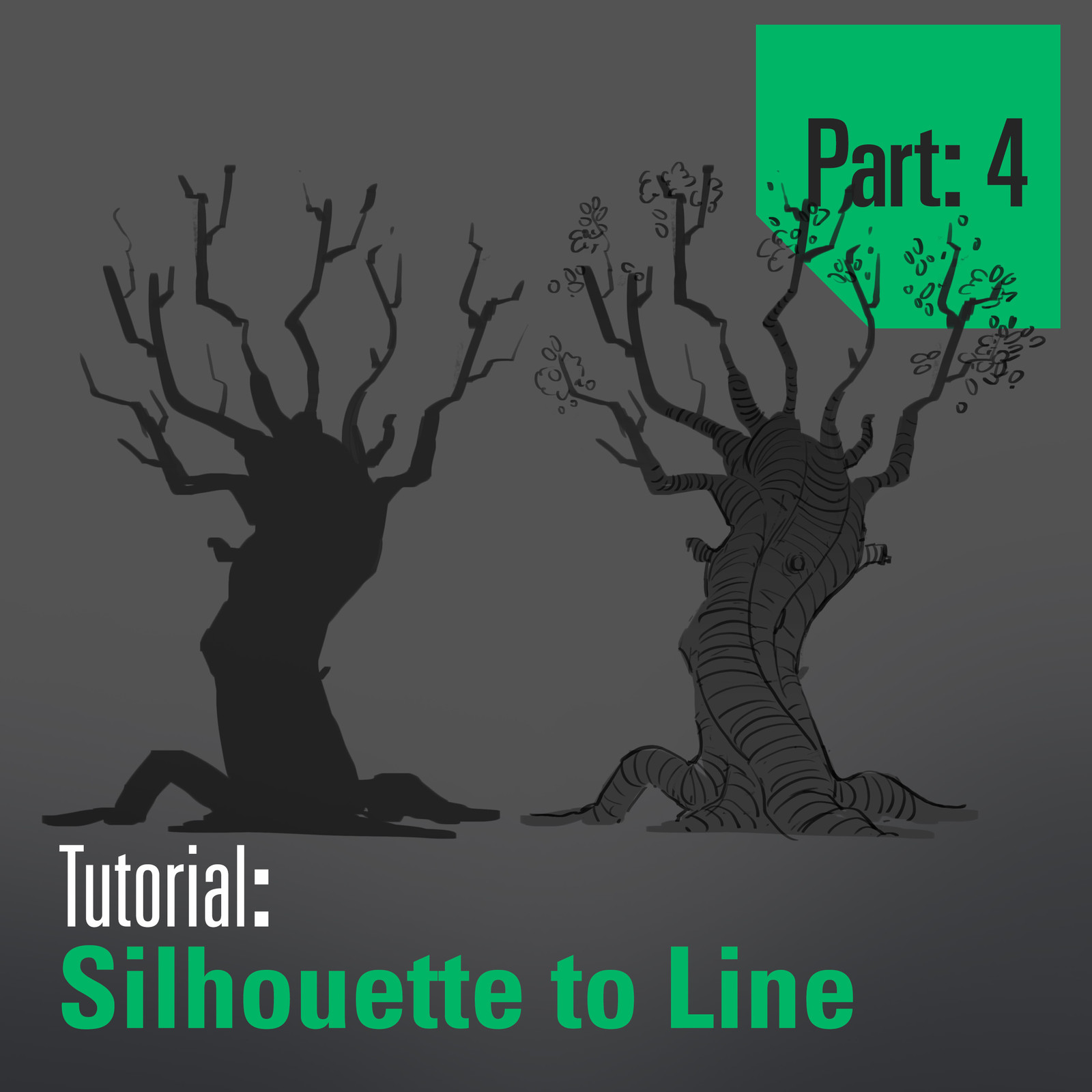 Tree Tutorial - Silhouette to Line - Part 4