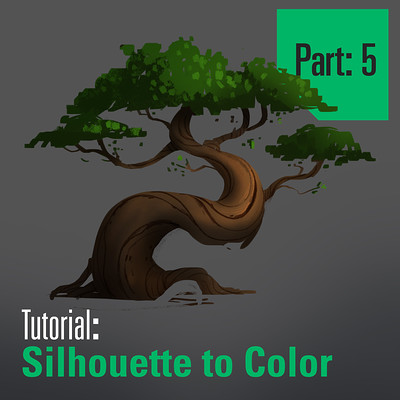 Tim kaminski tutorial trees sillhouette to color part 5 artstation