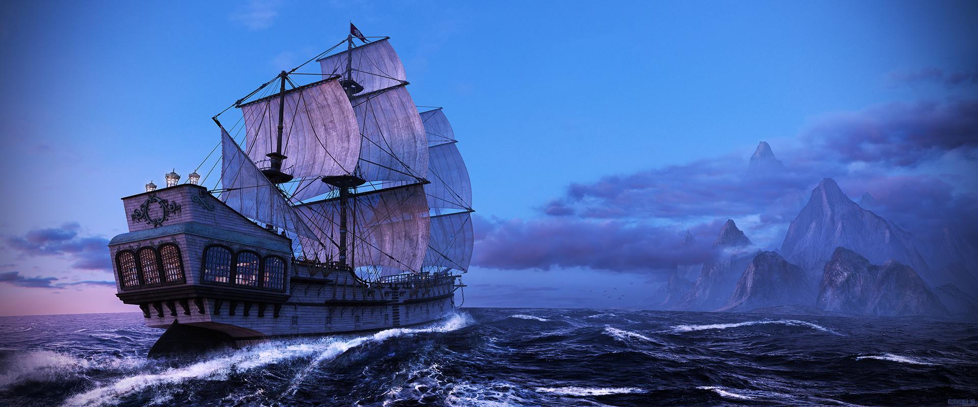 ArtStation - Adventures of a Pirate Ship, gurmukh bhasin