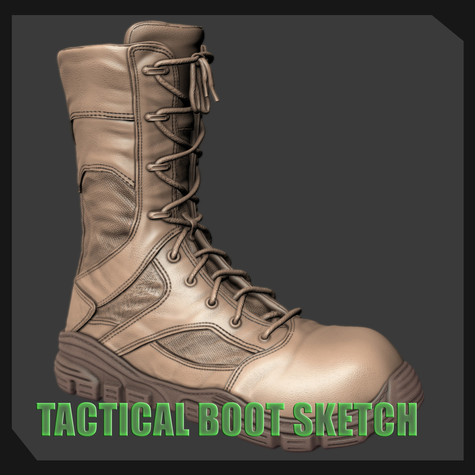 Tactical Boots Sketch