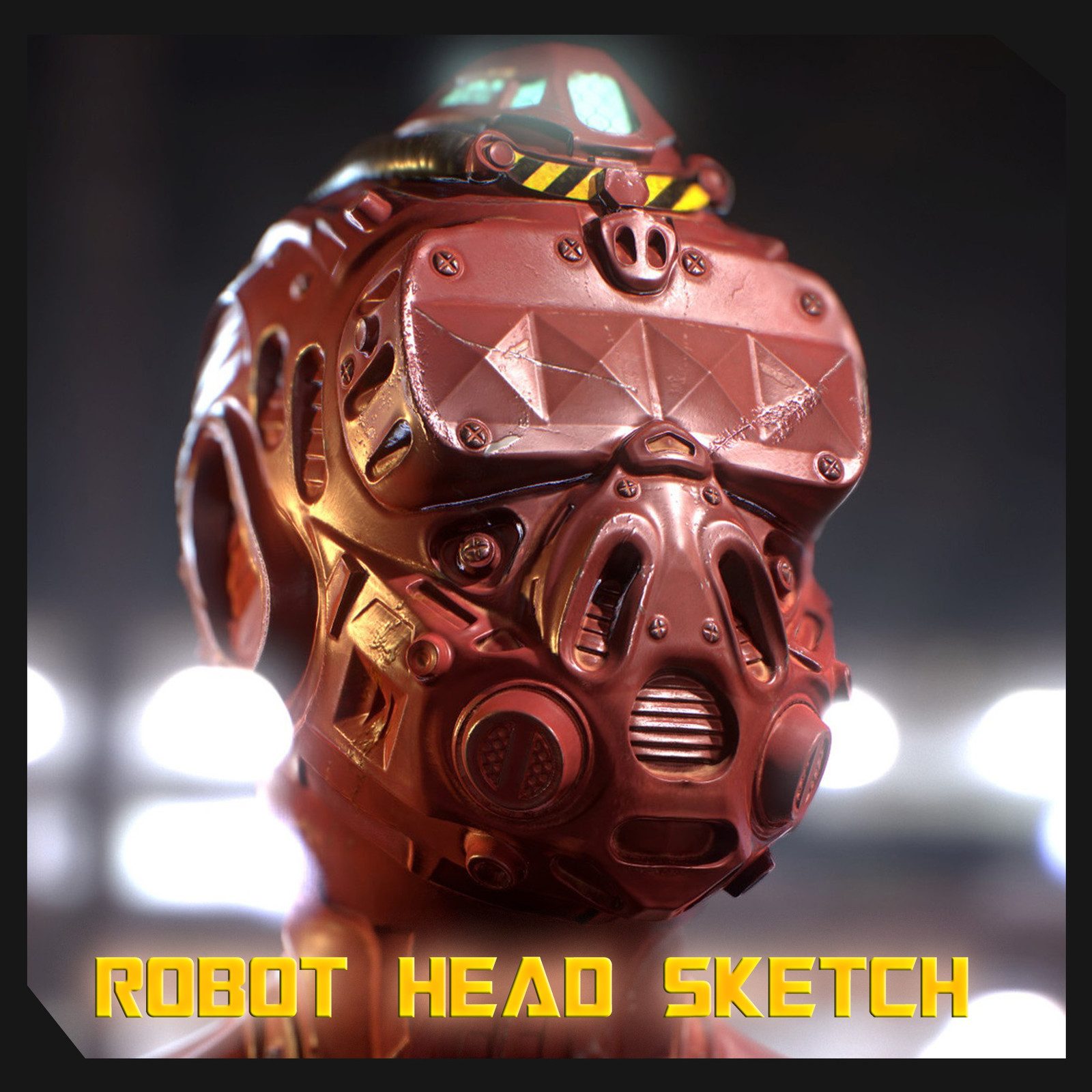 Cyborg Head Final Textured Version