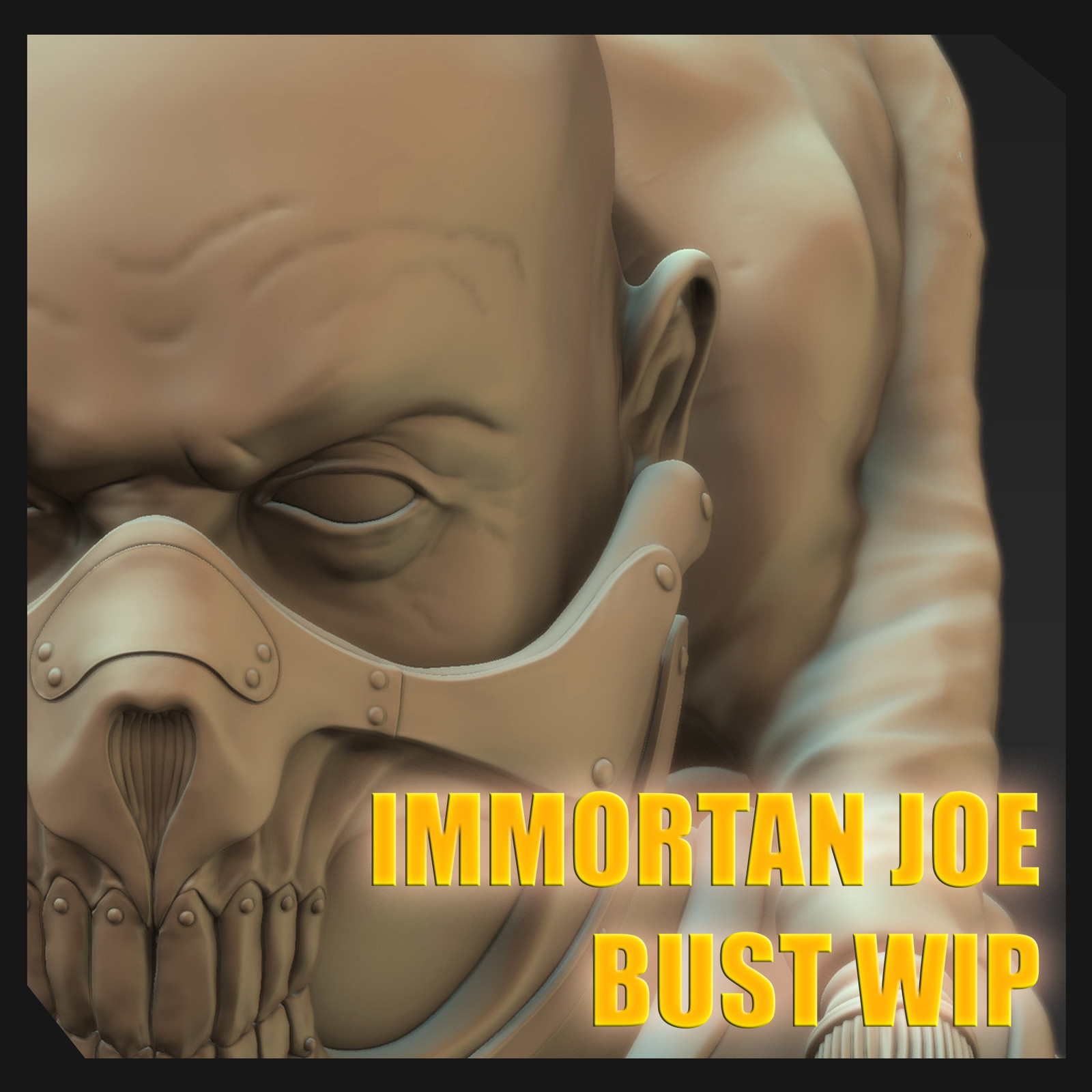 Immortan Joe 3D Bust Mudbox 2015 WIP
