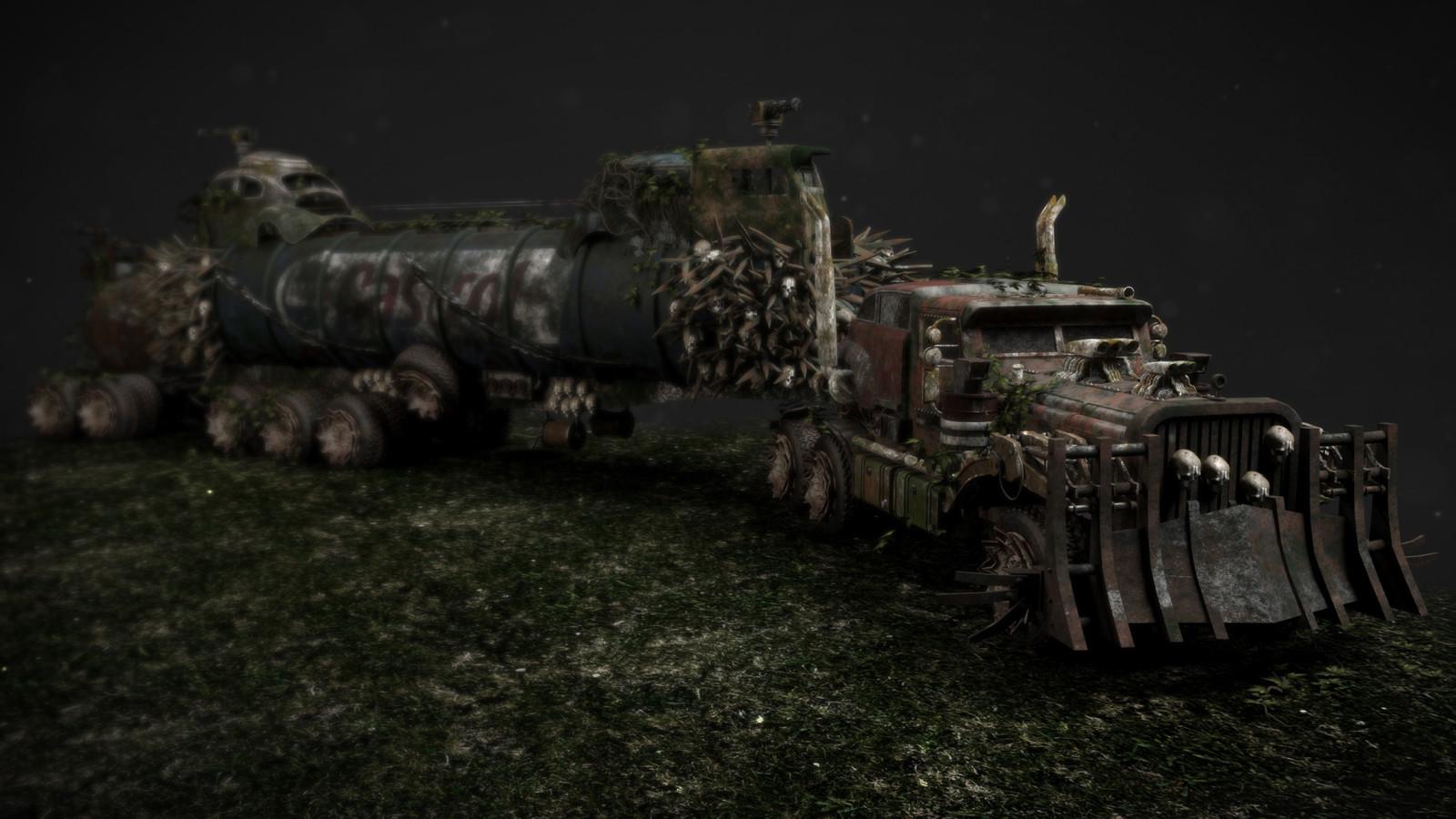 Mad Max War Rig fan art redux
