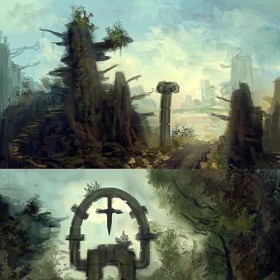 Leonardo de moura landscape concept sketch artstation portfolio homepage