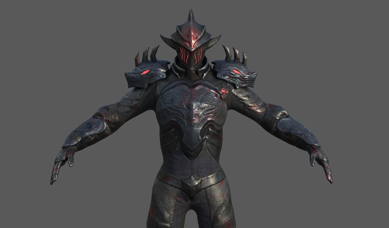 ArtStation - Armor darksoul mod dragon, tan tan