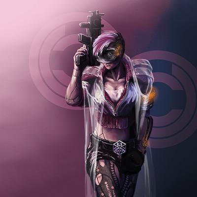 Yun nam cyberpunk character 2b w coat tn