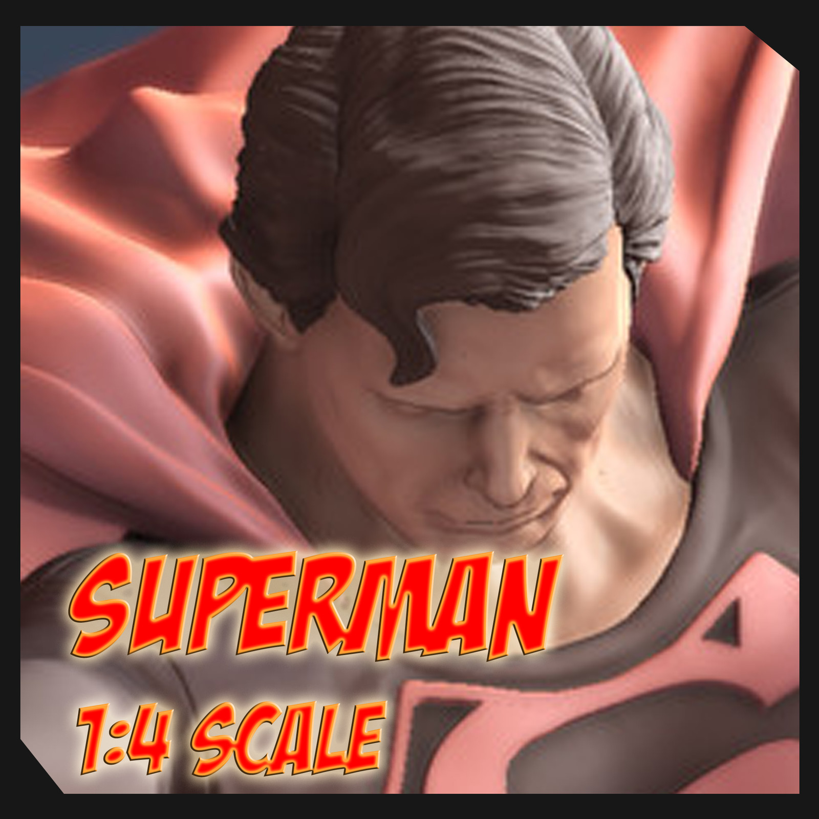 The Last Son Of Krypton Digital Sculpt for 3D Printing By Sergio Mengual