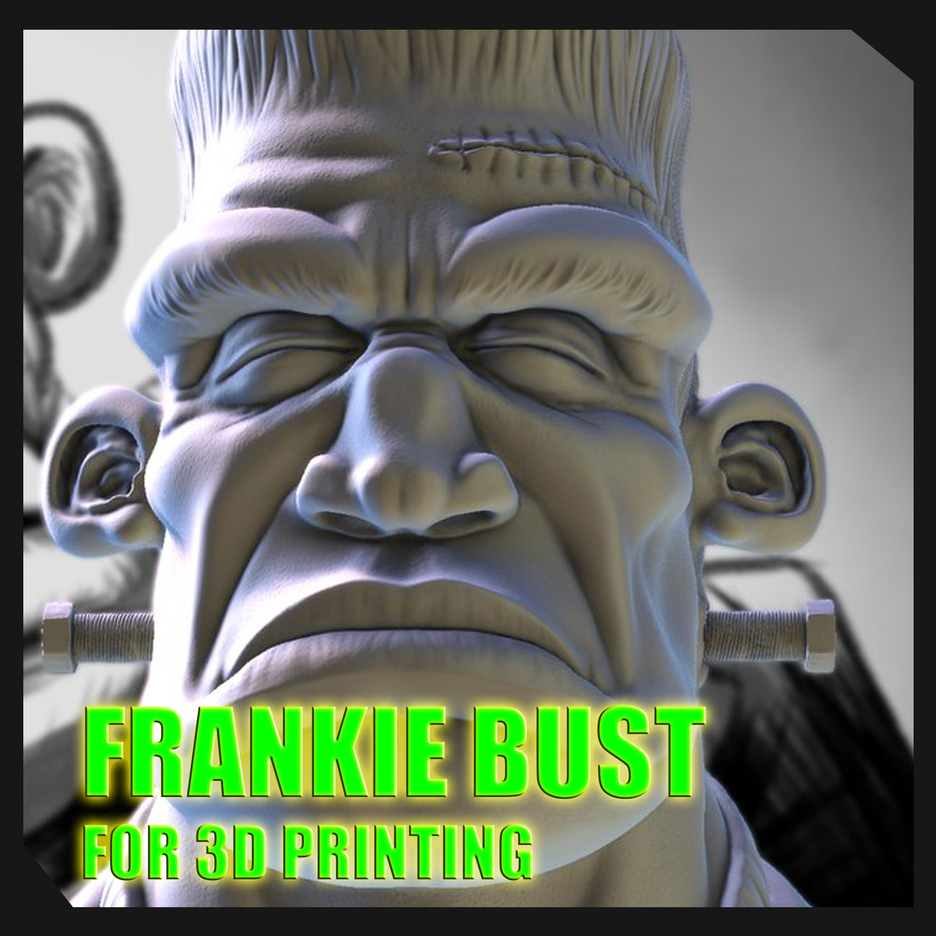 Frankie 3D Printed Bust by Sergio Mengual