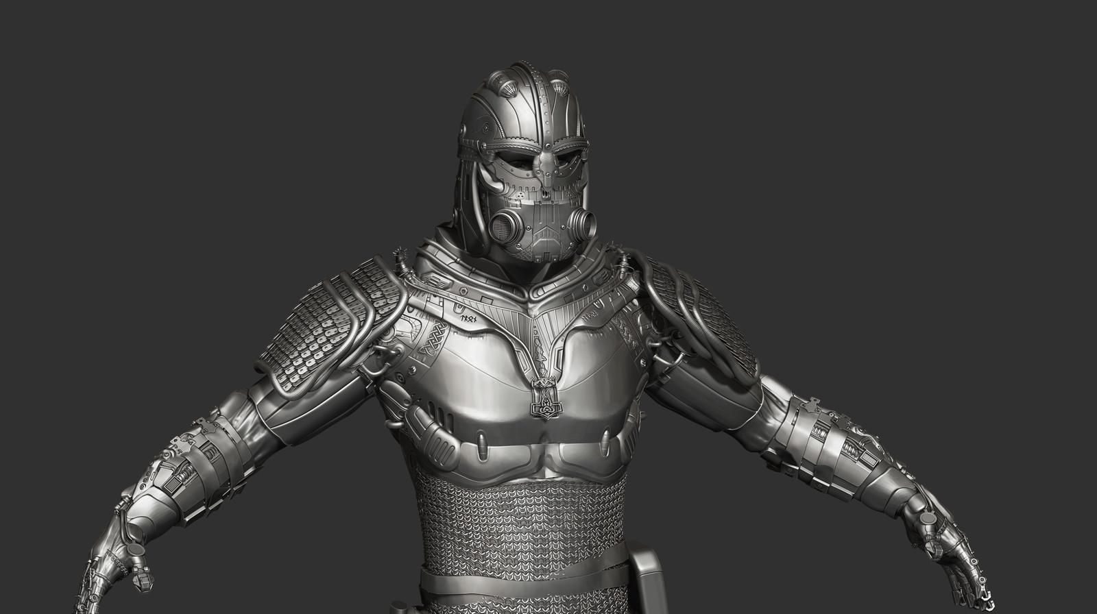 Futuristic Viking Soldier - WIP