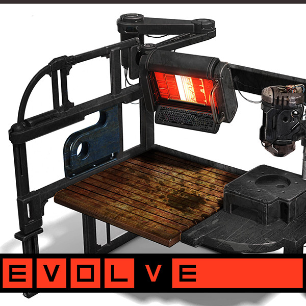 "EVOLVE ""LocoTech"" Prop Concepts: Tables and Chairs"