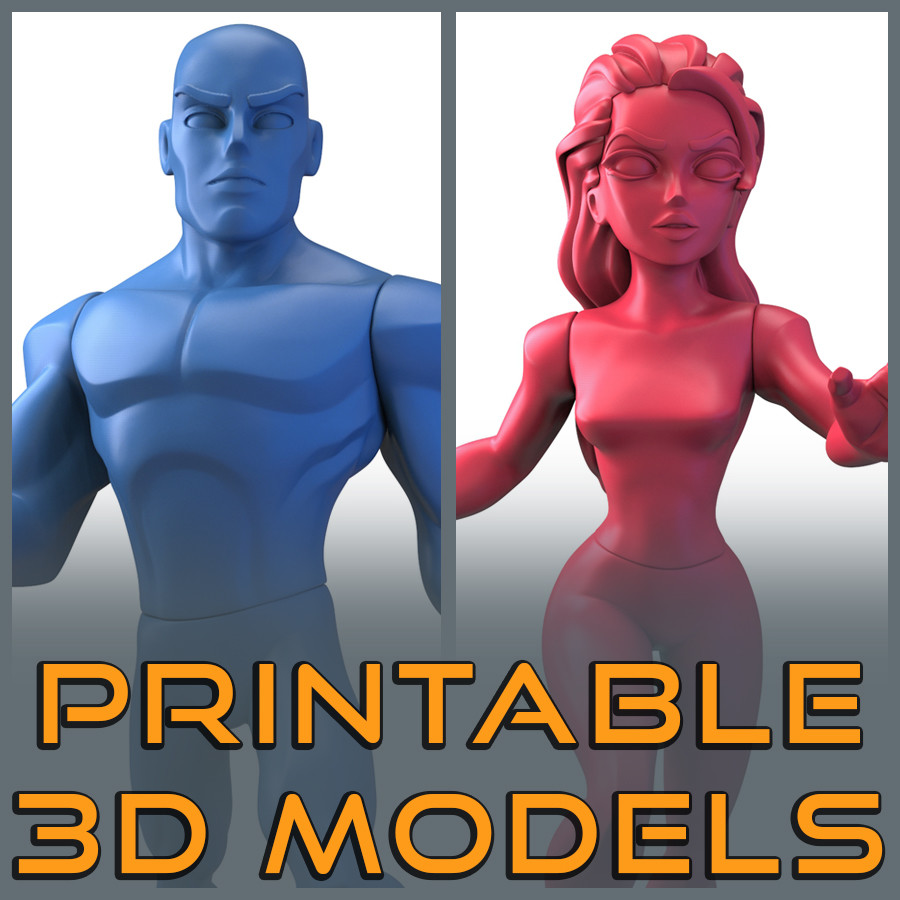 Infinidude + Infinidudette - 3D Assets