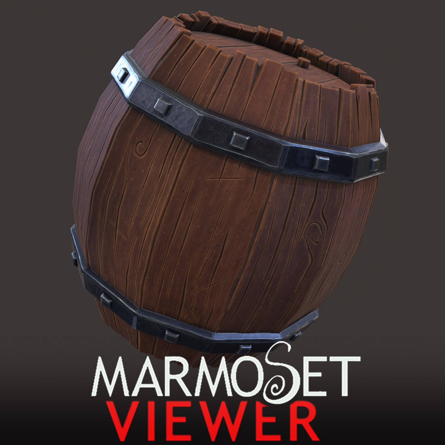 Stylised Wooden Barrel