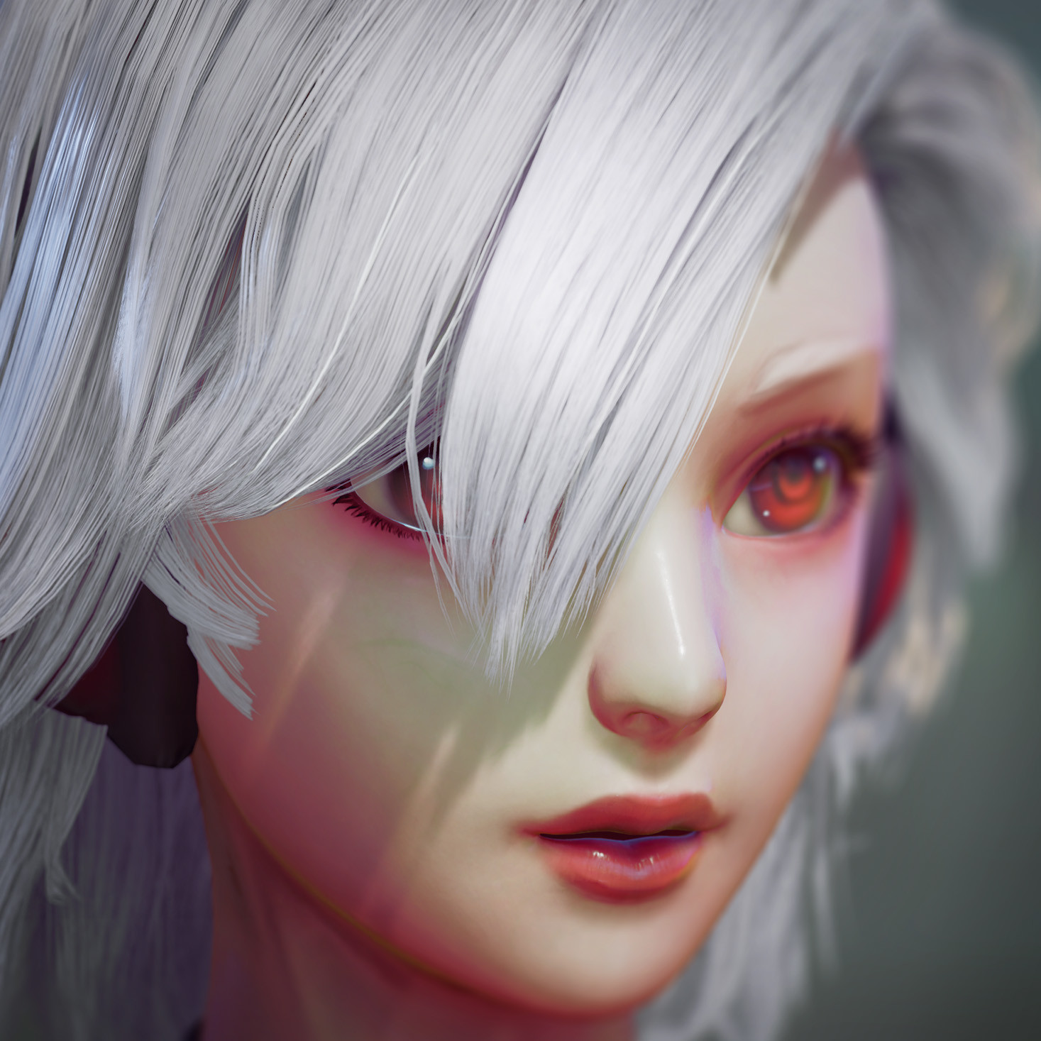 Exparia - WIP - Hair model & shader