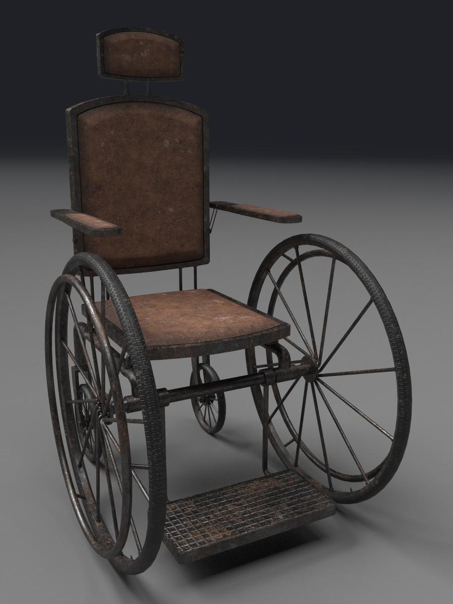 Old Wheelchair - ArtStation - Antique Wheelchair, Mark Yakunin