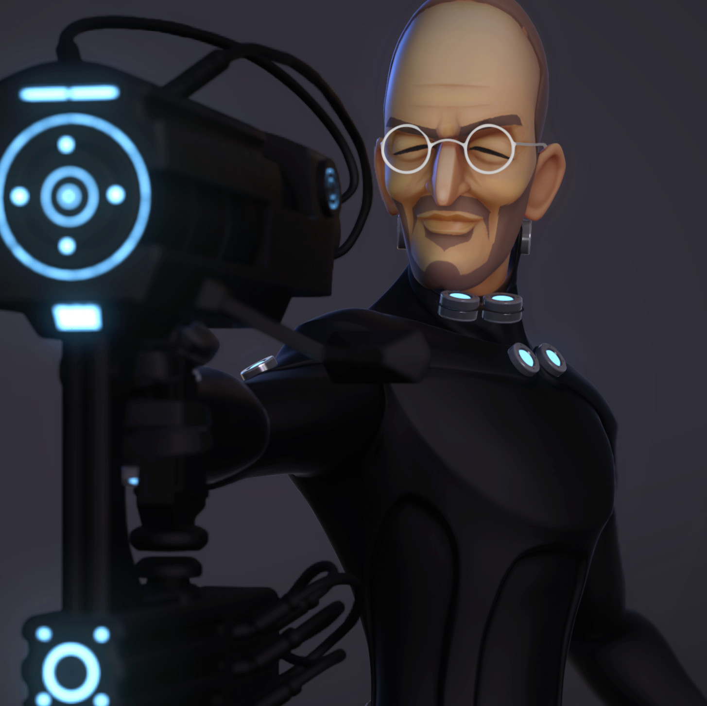 GANTZ crossover fan art 3d rig