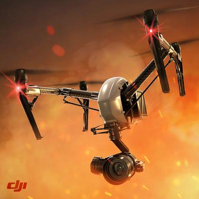 DJI INSPIRE 2 IN FIRE