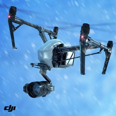 DJI INSPIRE 2 IN SNOW STORM