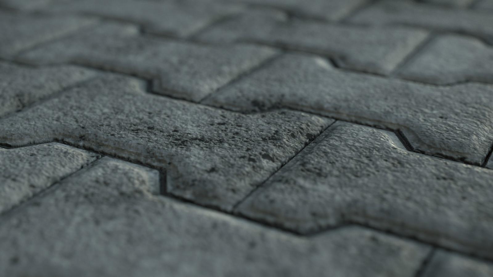 Parametric Lock Stone Pavement