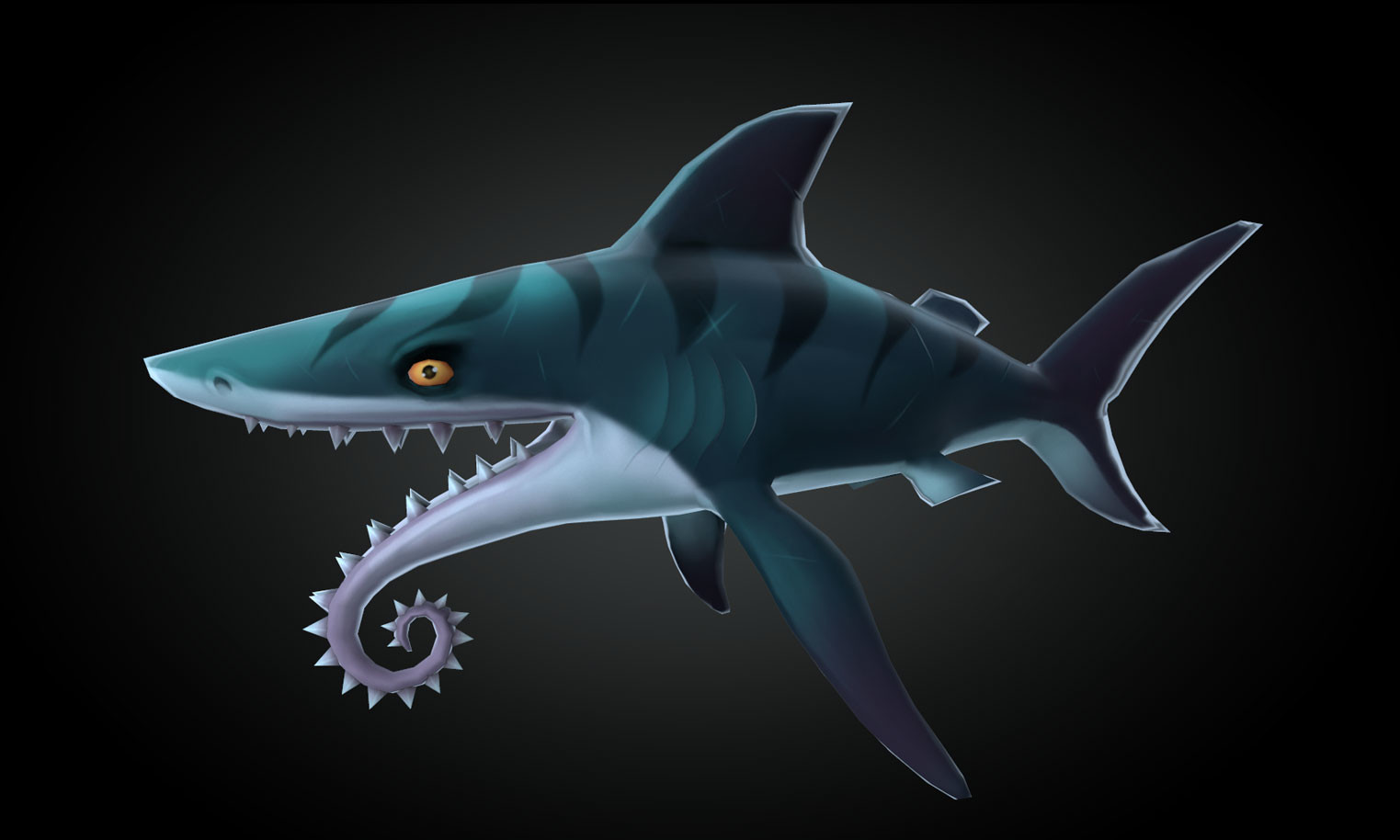 3D Shark - Helicoprion
