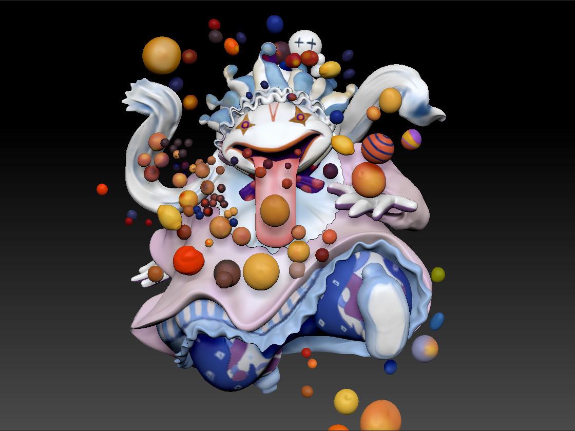 Yoshitaka Amano's Quina - Fan Art Scrulpt By Renee Nejo