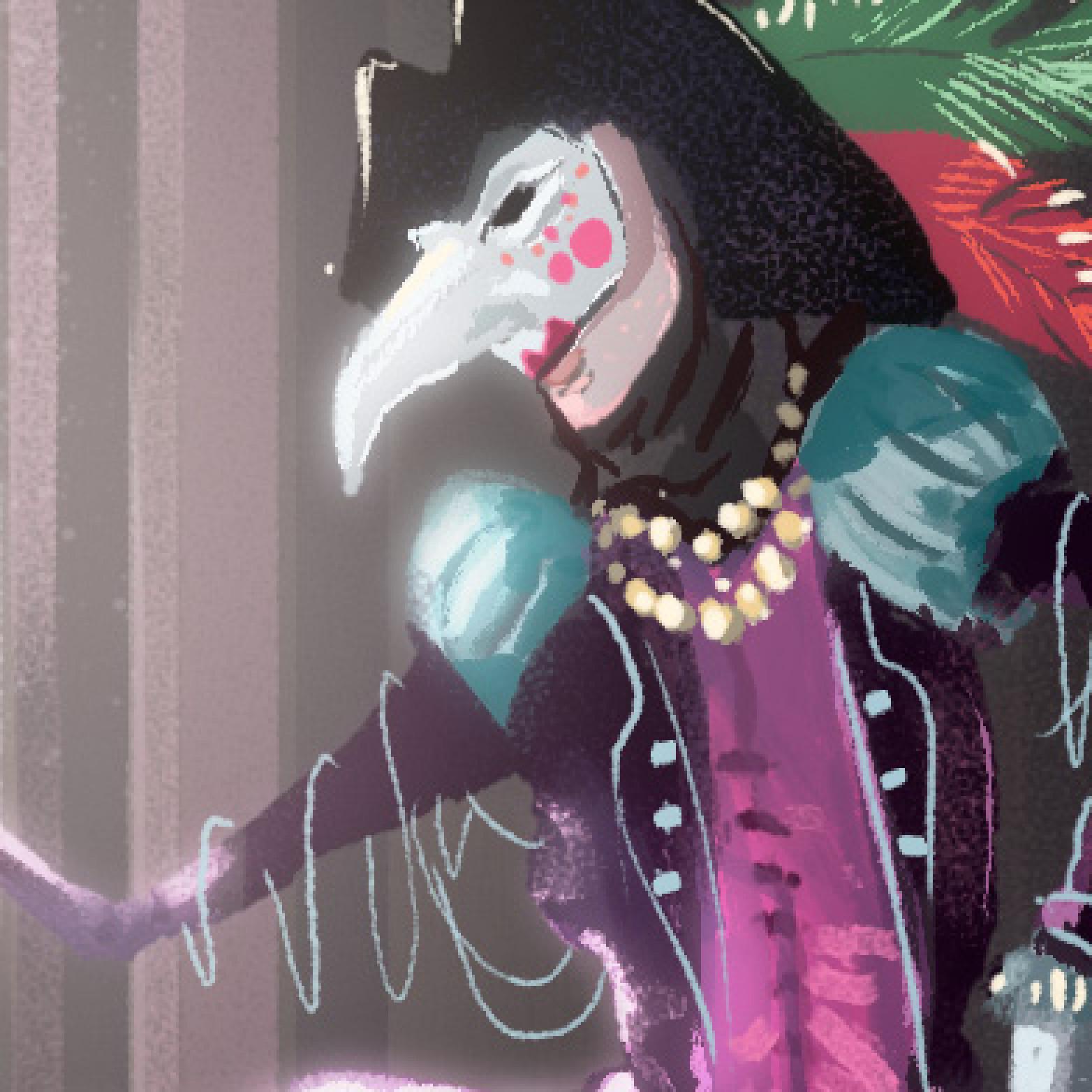 Venice masked man