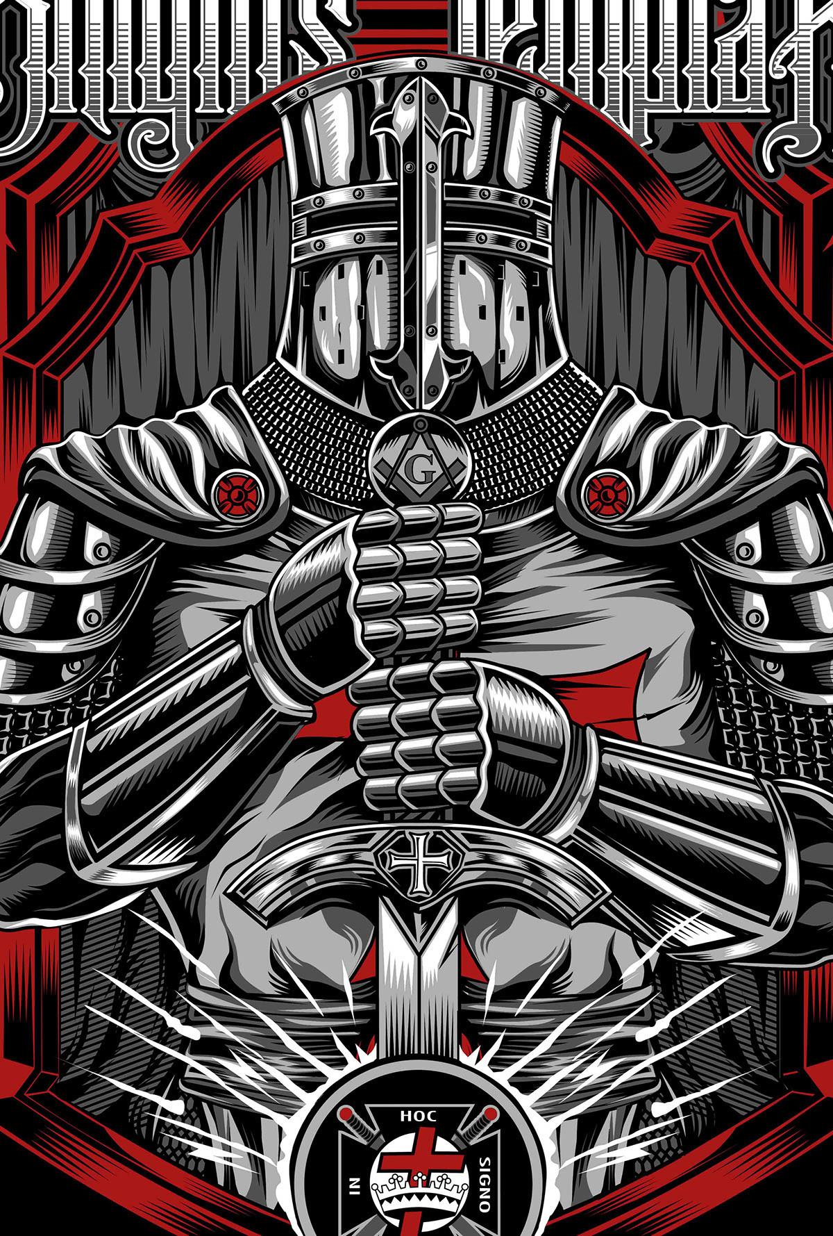 Mark Manapul Knights Templar Shirt Design