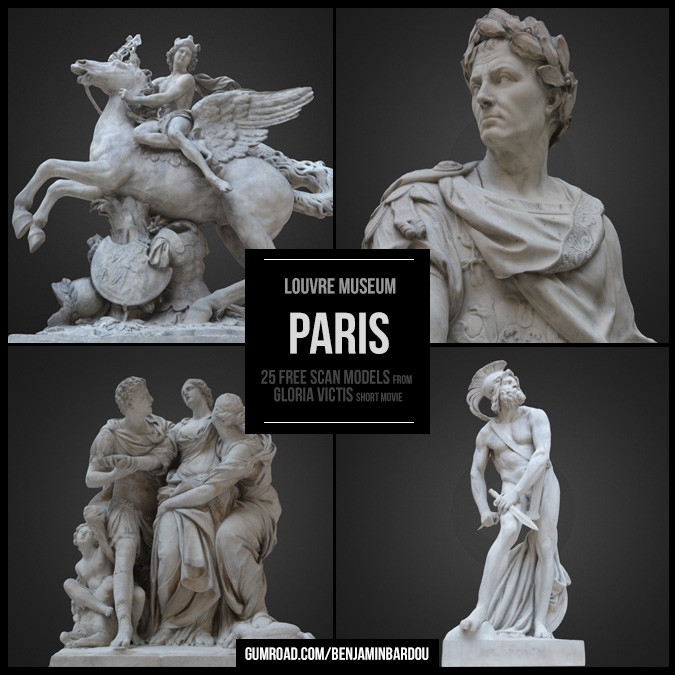 25 FREE Scans models from Louvre Museum