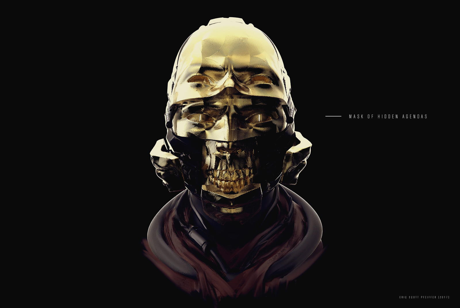 Mask of Hidden Agendas Concept