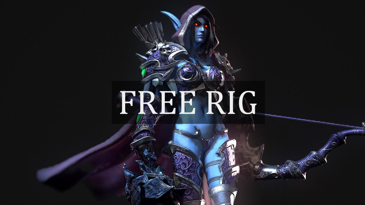 Free Maya Rig - Sylvanas Windrunner by Ray Le