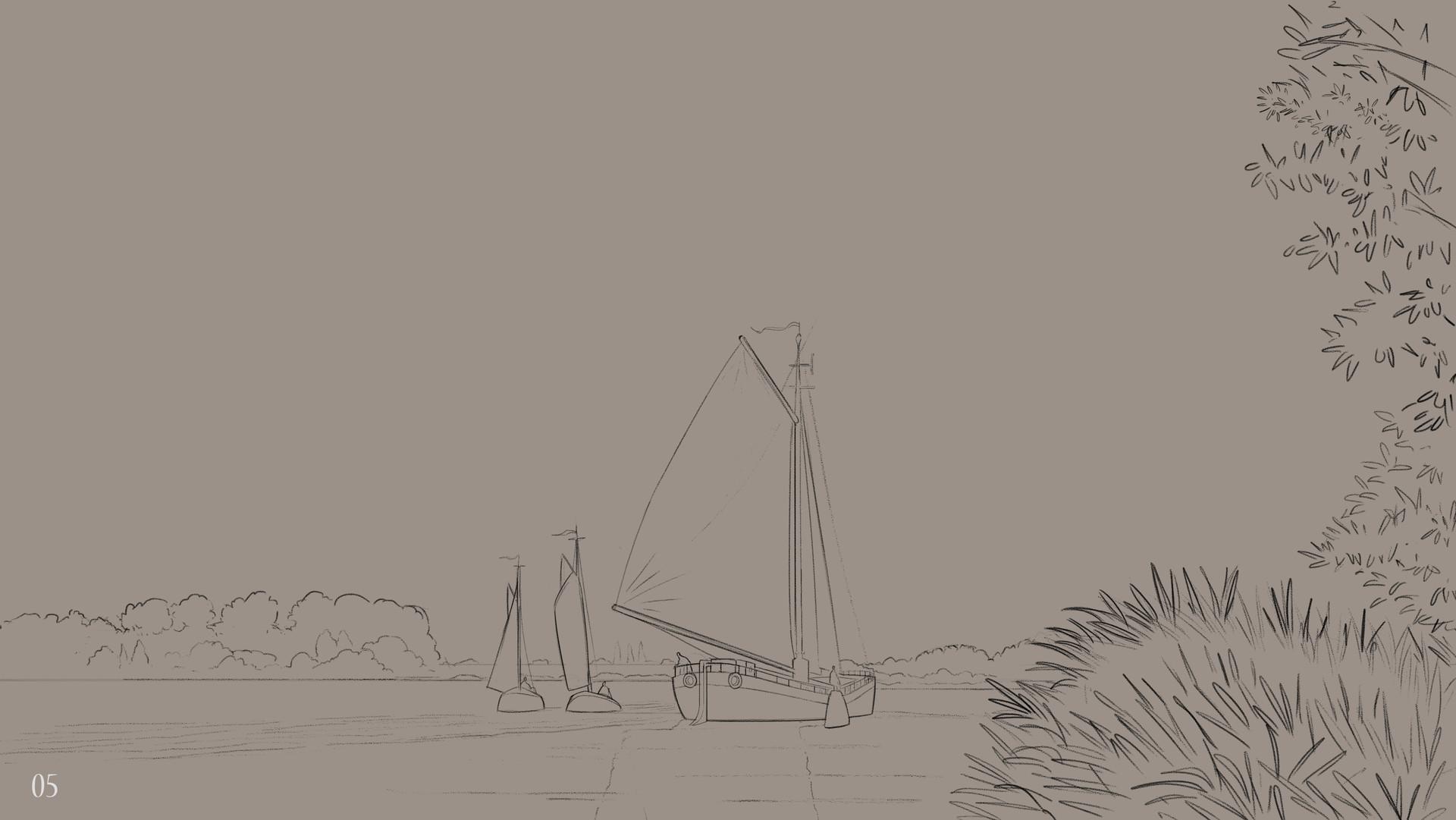 Waterlands - Line Drawings