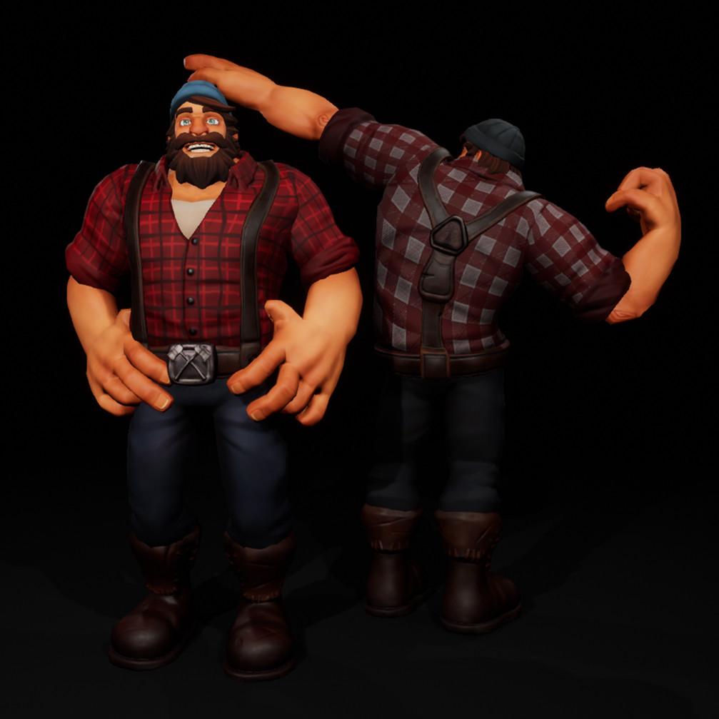 Stylized Lumberjack