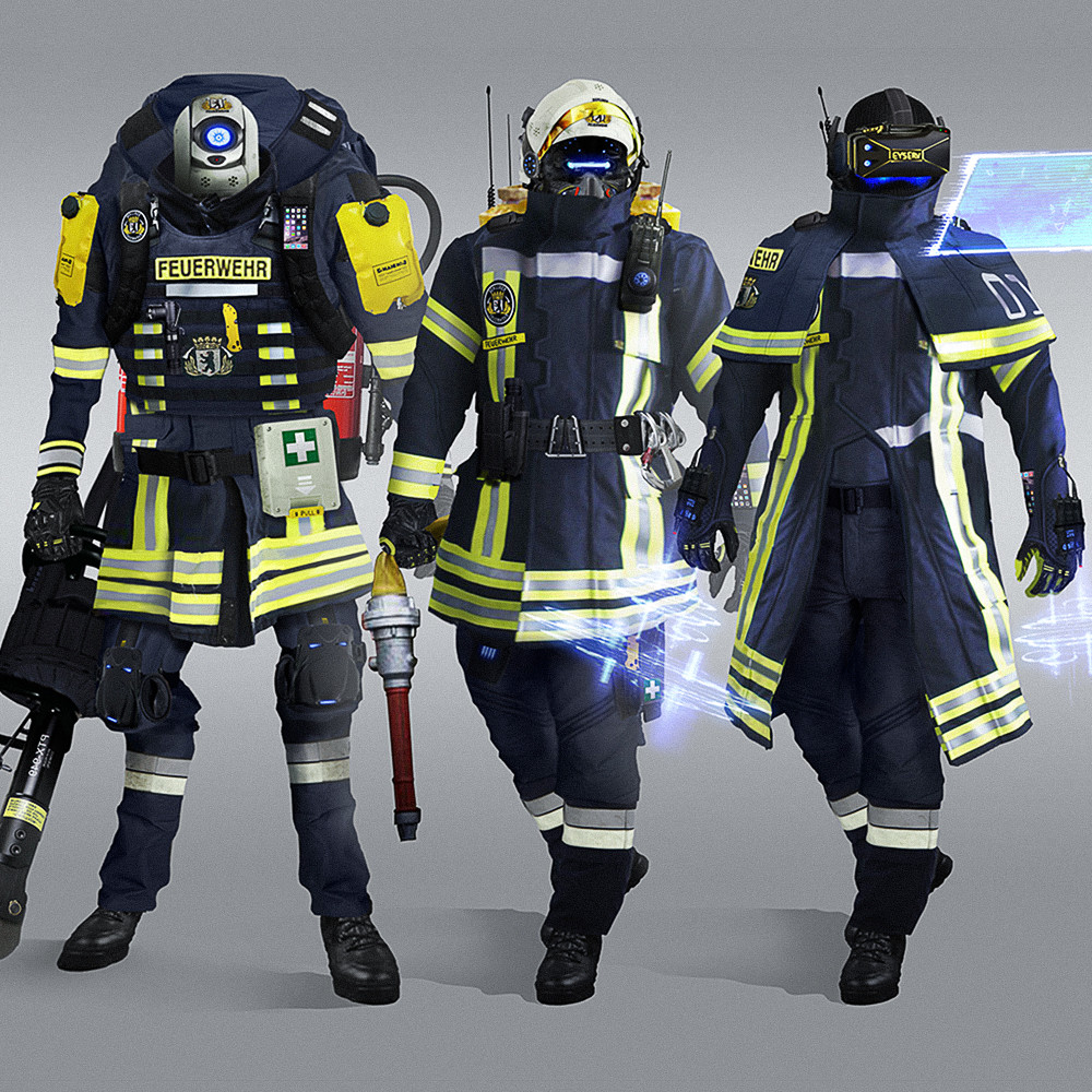 Marcel Benes  Futuristic Firefighters