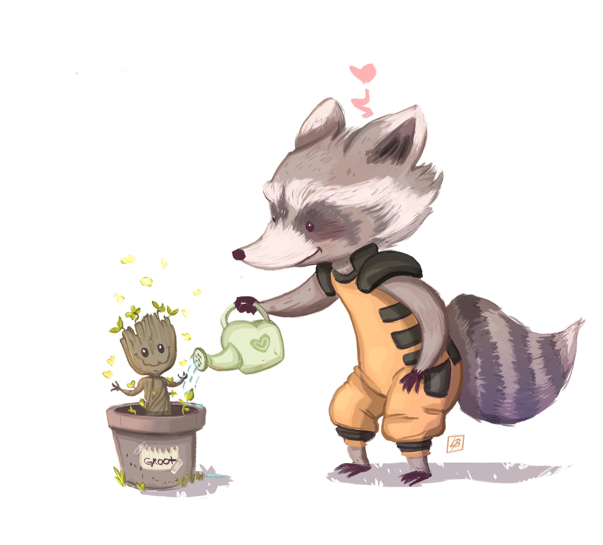 Baby Groot And Rocket Raccoon Drawing Www Topsimages Com