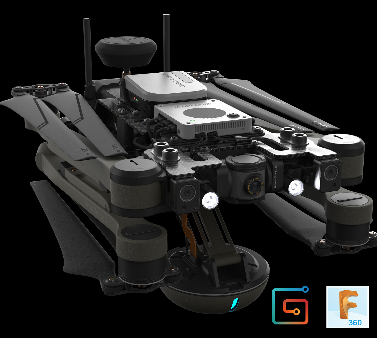 Fusion360 Hard Surface tutorial, drone design.