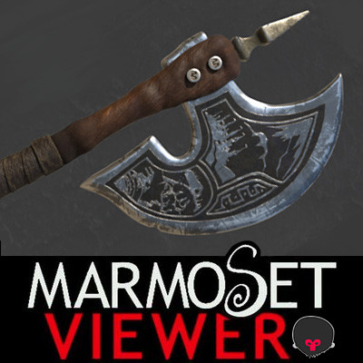 Axe of the Beast Warrior; Marmoset Viewer.