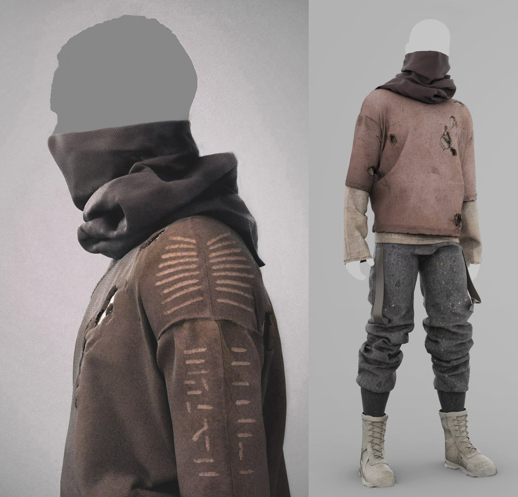 ArtStation - Marvelous Designer - Mens Collection - Outfit #3