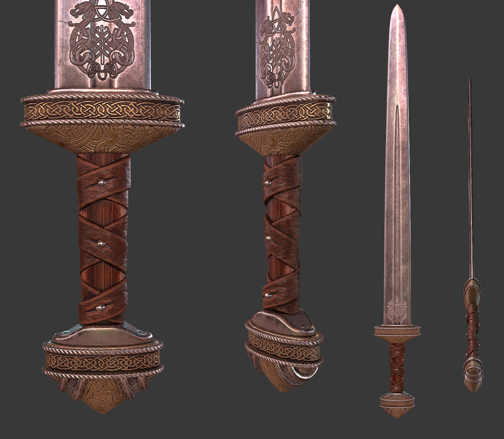 Viking Sword and Helmet