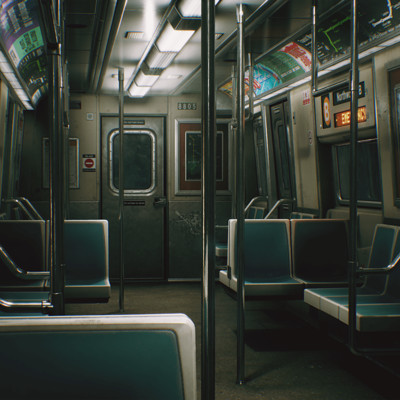 CCA Subway Train (UE4)