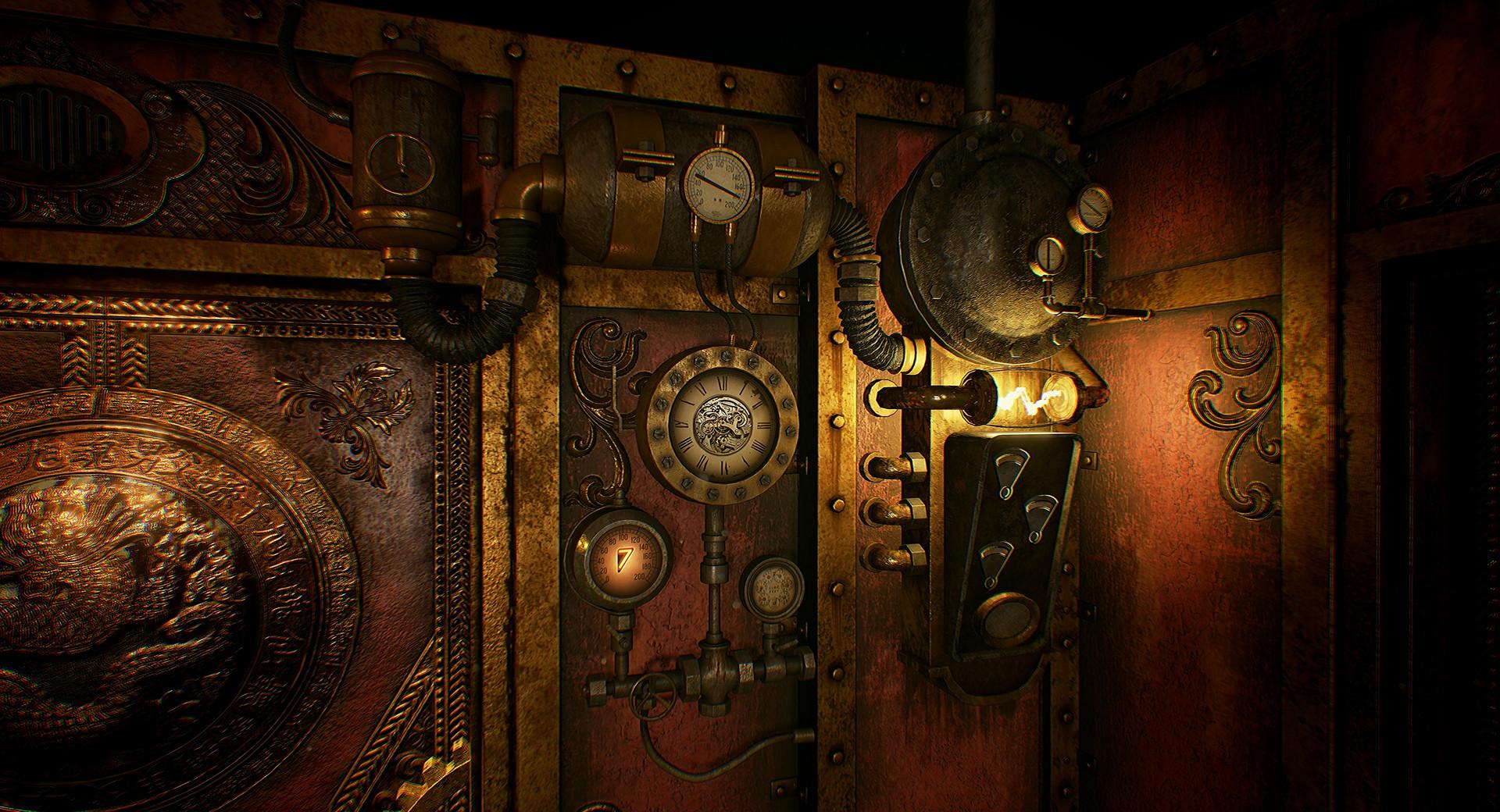 Ste&unk Door & ArtStation - Steampunk Room Andre Aspirany