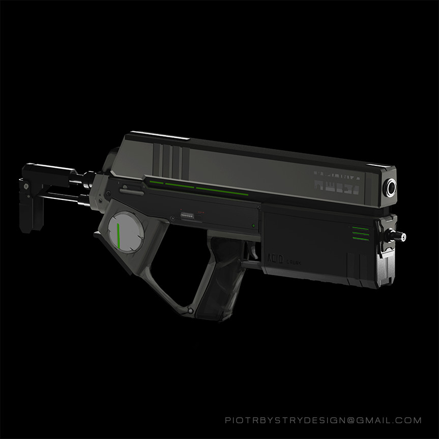 Acid cyberpunk gun