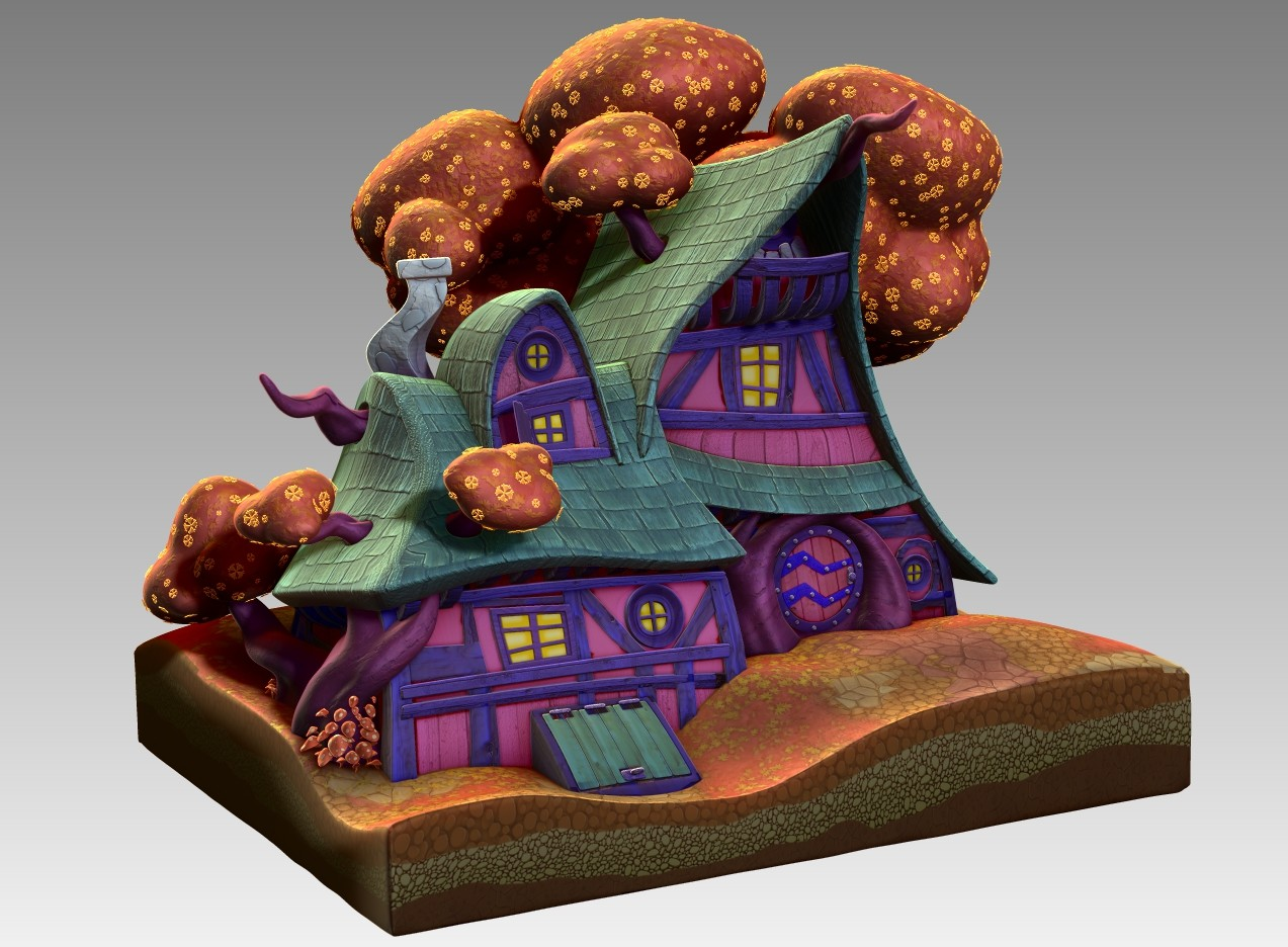 Witch house for animation