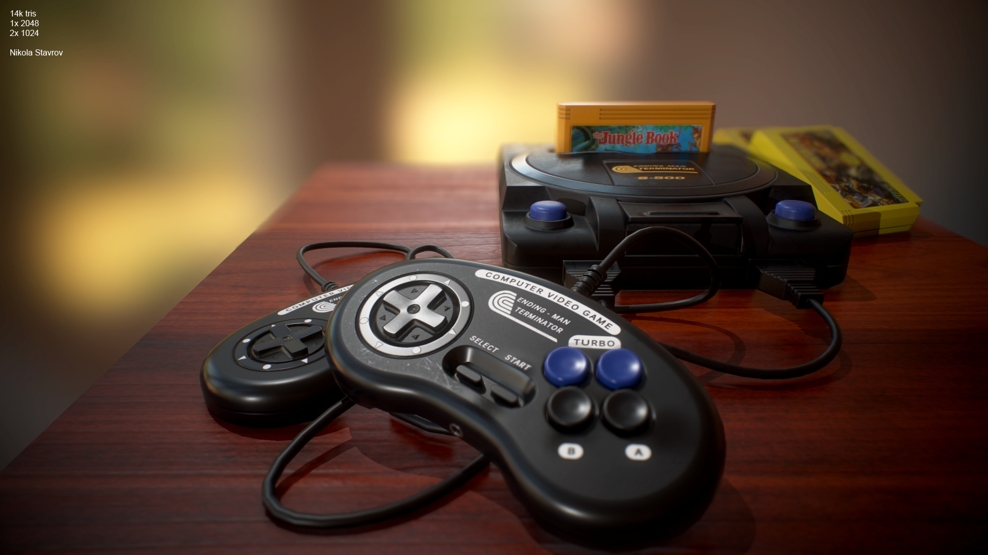 artstation - terminator 2 console , nikola stavrov