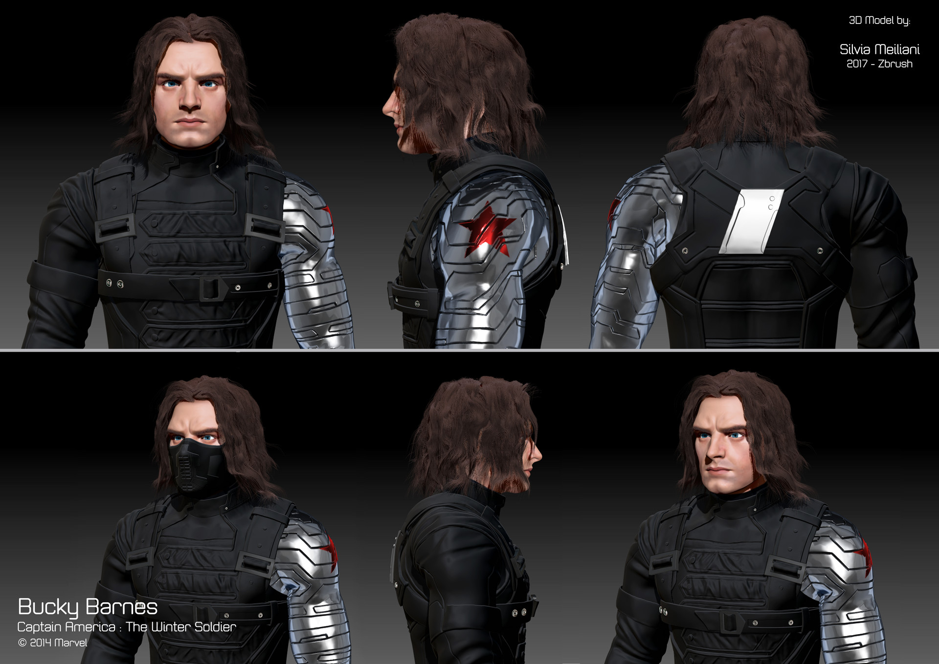 ArtStation - Winter Soldier 3D Fanart, Silvia Meiliani