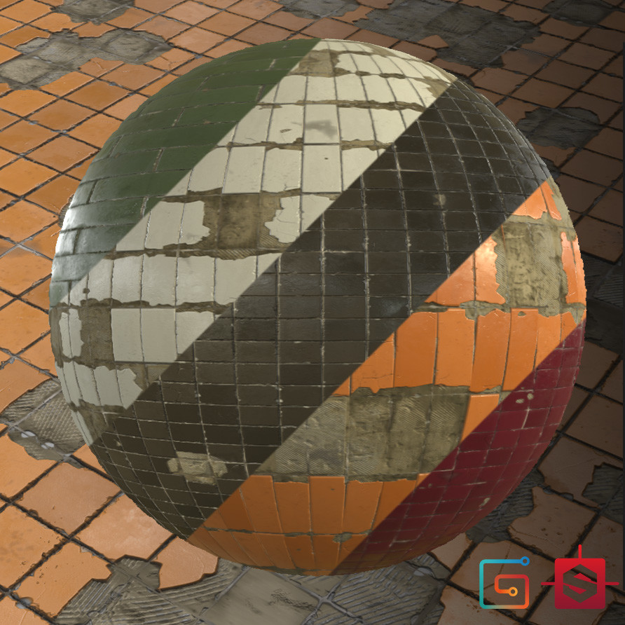 Substance Designer - Damaged Tile Generator