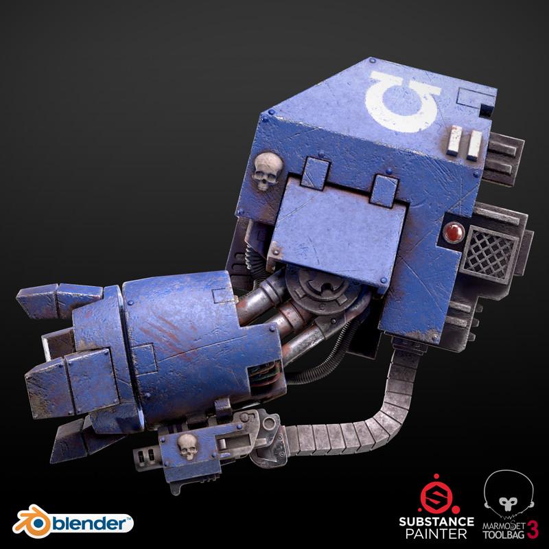 Breakdown: Ultramarine Dreadnought POWERFIST