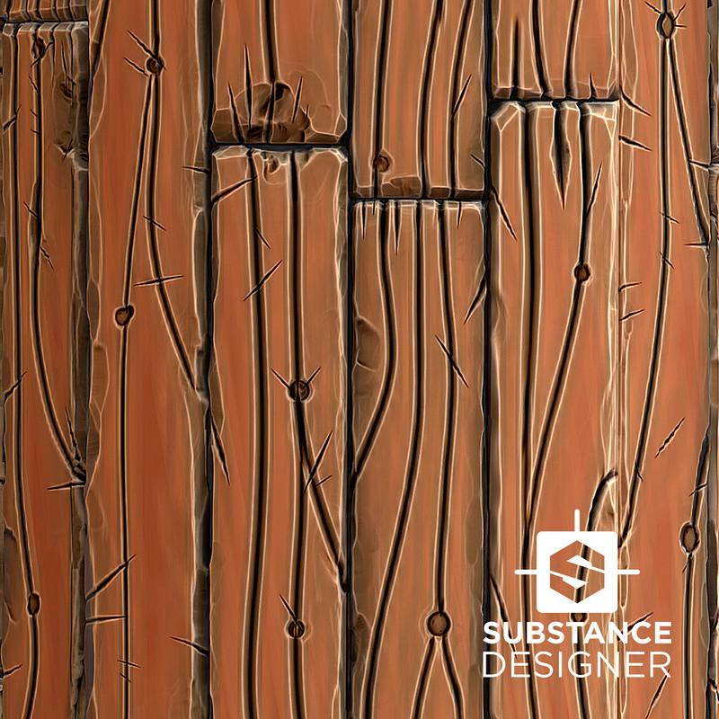 Stylized Wood Texture