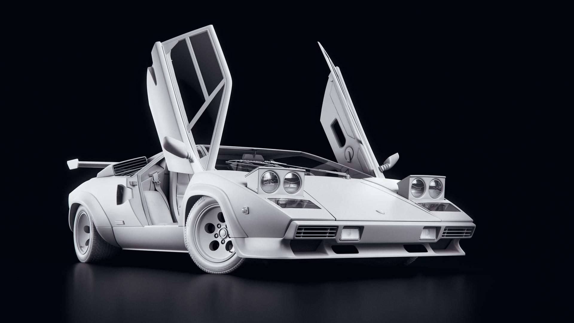 Artstation Lamborghini Countach 5000 Qv Michał Bończyk